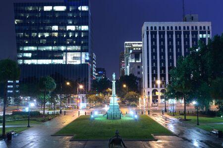 columbia: Night cityscape of downtown Columbia, South Carolina, USA. Stock Photo