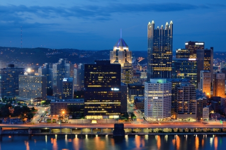 Skyscrapers in downtown PIttsburgh, Pennsylvania, USA. Stock Photo - 15095067