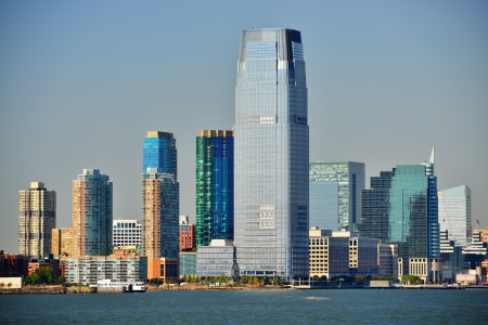 american city: Skyline of Exchange Place at Jersey City, New Jersey, USA