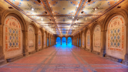 bethesda: Ornate underpass of Bethesda Terrace in New York City