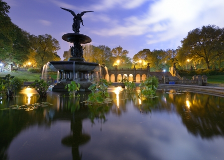 Angels of the Water Fountain at Bethesda Terrace in New York City