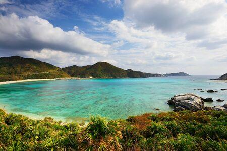okinawa: Aharen Beach on the island of Tokashiki in Okinawa, Japan. Stock Photo