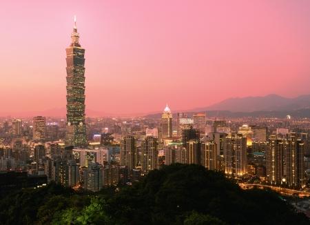 Taipei, Taiwan soir horizon. Banque d'images - 17464860