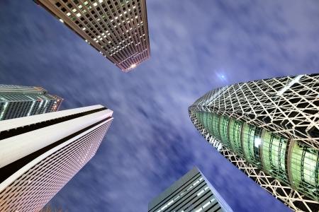 high rises: High Rises in Shinjuku Ward, Tokyo, Japan. Stock Photo