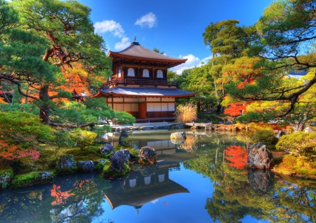 Ginkaku-ji, known as Temple of the Silver Pavilion, in Kyoto, Japan.