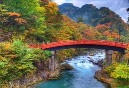 Shinkyo pont à Nikko, Japon 11 01 Banque d'images