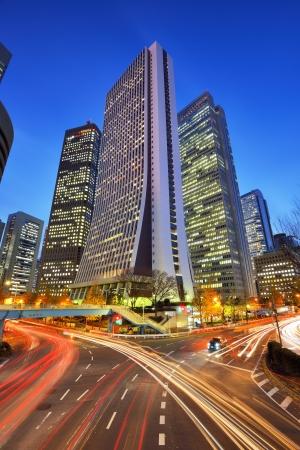 tokyo japan: Office buildings in Shinjuku, Tokyo, Japan.