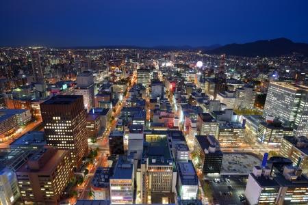 sapporo: Cityscape of Downtown Sapporo, Japan.
