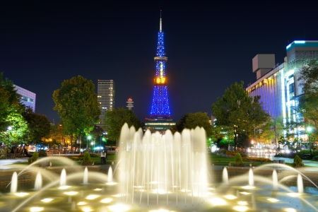 Odori Park in Sapporo, Japan  photo