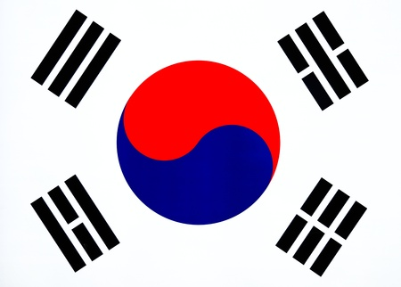 nationalistic: Image of South Korean Flag