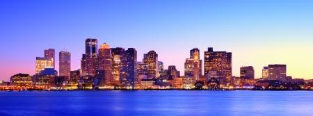 Boston Massachusetts Panoramic Skyline 写真素材