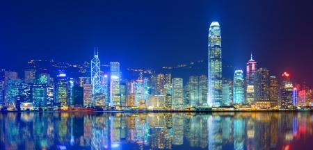 hong kong night: Hong Kong Island from Kowloon.