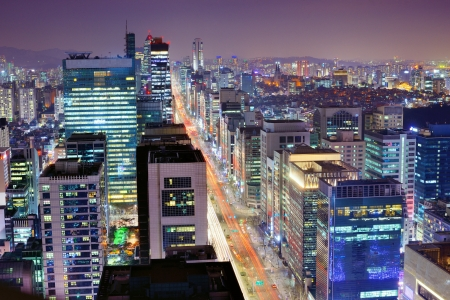 Gangnam District of Seoul, South Korea. Stok Fotoğraf