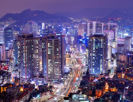 seoul: Gangnam District of Seoul, South Korea. Stock Photo