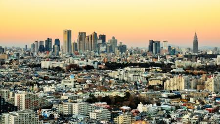 tokyo japan: Dusk cityscape of Shinjuku, Tokyo, Japan.