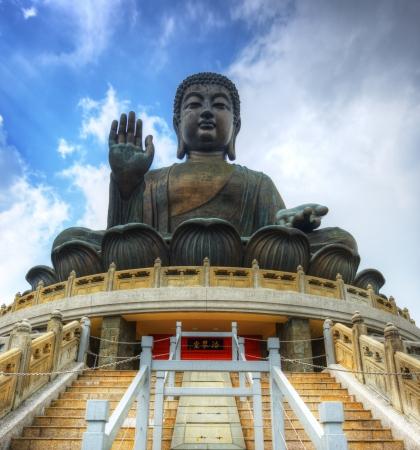 Tian Tan Buddha (Great Buddha) is a 34 meter Buddha statue located on Lantau Island in Hong Kong. Stock Photo - 18653529