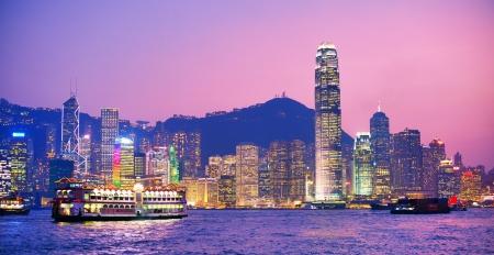 victoria harbor: HONG KONG - OCTOBER 15: Hong Island Skyline from across Victoria Harbor October 15, 2012 in Hong Kong, PRC.  Editorial