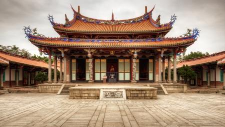 台湾台北市に台北孔子廟は、1879 年からさかのぼる。