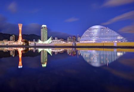 Kobe, Japan panorama at Hanshin Expressway