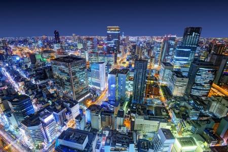 osaka: Osaka, Japan cityscape