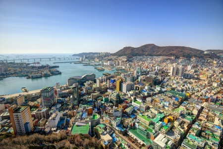 seoul: Downtown cityscape of Busan, South Korea