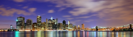 Lower Manhattan from across the East River in New York City. photo