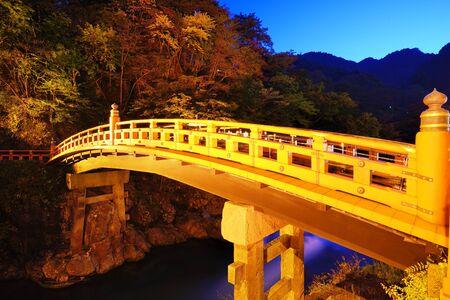 Shinkyo Bridge in Nikko, Japan.   photo