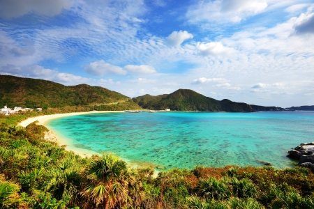 Aharen Beach on the island of Tokashiki in Okinawa, Japan. Stock Photo