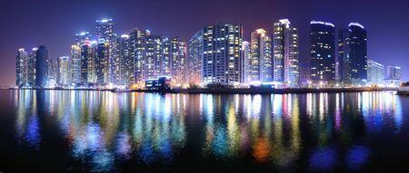 south korea: Busan, South Korea Panorama Stock Photo