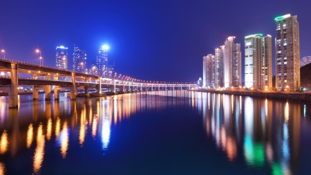 high rises: Residentia high rises in Busan, South Korea.