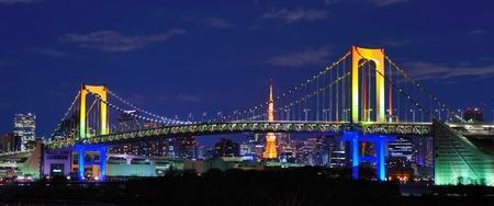 rainbow bridge: Rainbow Bridge in Tokyo, Japan Editorial
