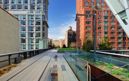 High Line Park in New York City. Editorial