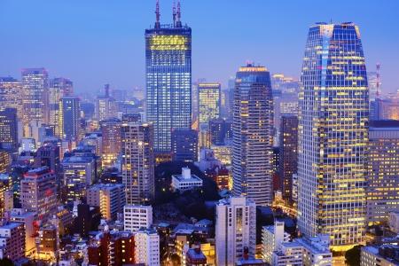 Tokyo Japan Skyline at Minato Ward