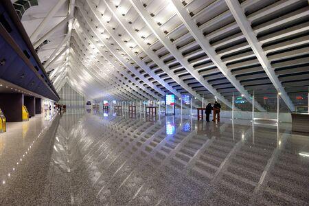TAIPEI, TAIWAN - JANUARY 11: Taiwan Taoyuan International Airport January 11, 2013 in Taipei, TW. Its the busiest airport in the country and the main international hub for China Airlines and EVA Air.