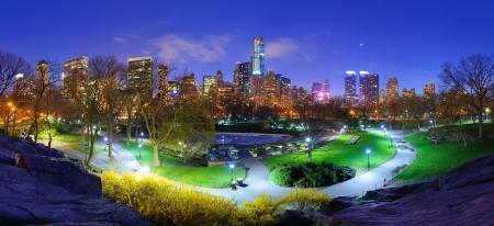 city park skyline: Central Park and cityscape of New York City