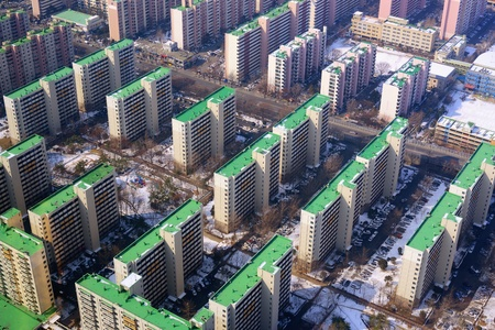 high rise: High rise apartments on Yeouido island in Seoul, South Korea