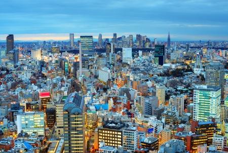 東京都新宿方面のスカイライン 写真素材