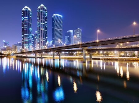 Haeundae district of Busan, South Korea citysape Stock Photo