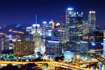 A Pittsburgh, Pennsylvania, USA cityscape. photo