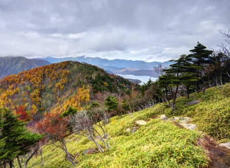 Landscape in Nikko National Park in Tochigi, Japan. photo