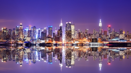 times square: Panorama of midtown New York City Stock Photo