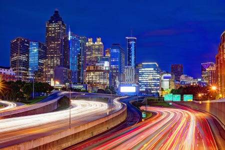 Downtown Atlanta, Georgia, USA skyline. Editorial