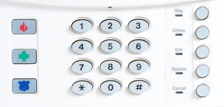 家警報のキー パッド