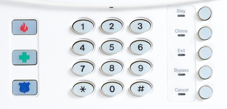 key pad on a house alarm
