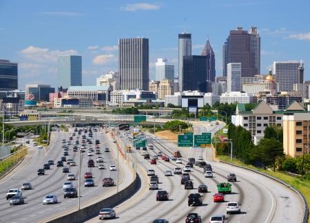 atl: Skyline of downtown Atlanta, Georgia.