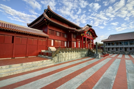 ancient relics: Shuri Castle in Okinawa, Japan.