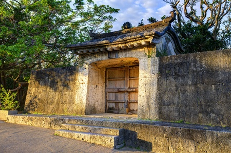 Shuri Castle Wall in Okinawa, Japan