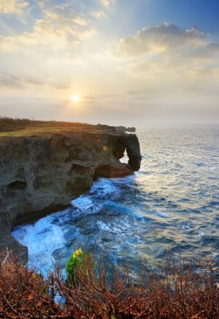 okinawa: Cliff at Manzamo, Okinawa, Japan.