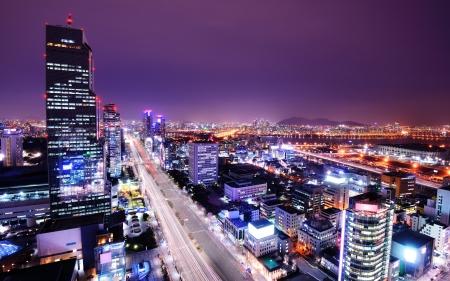 Séoul, Corée du Sud horizon au district de Gangnam.