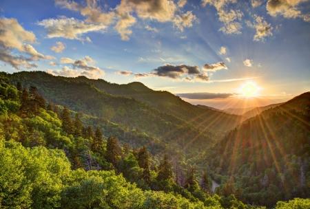 smokies: Newfound Gap in the Smoky Mountains near Gatlinburg, Tennessee.